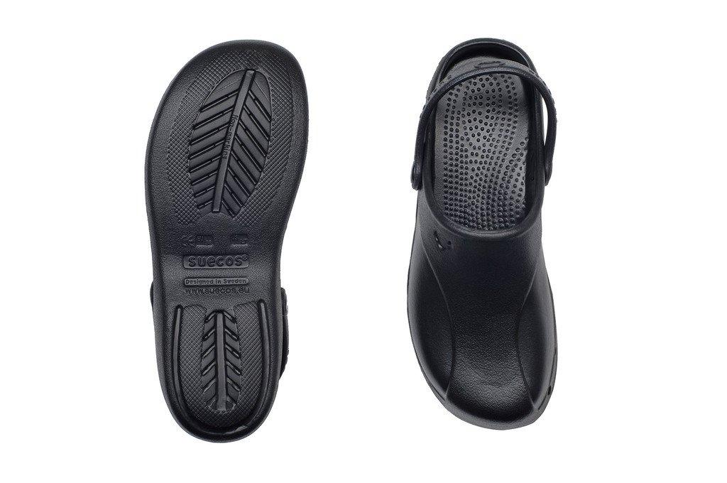 SKOLL klompe crne Suecos klompe crne papuče (4)